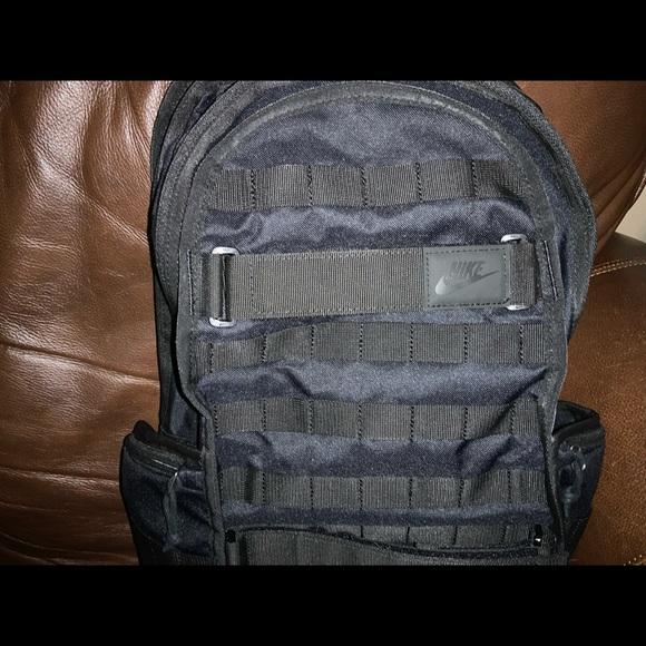 NIKE black backpack.